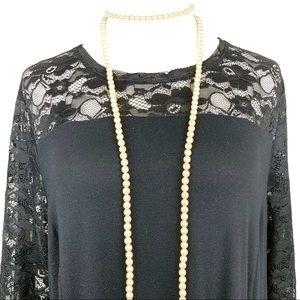 Apt 9 Woman's Black Lace Tunic Dress Size 1X